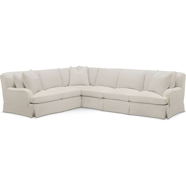 Living Room Furniture - Campbell 2 Pc. Sectional with Right Arm Facing Sofa- Comfort in Anders Ivory