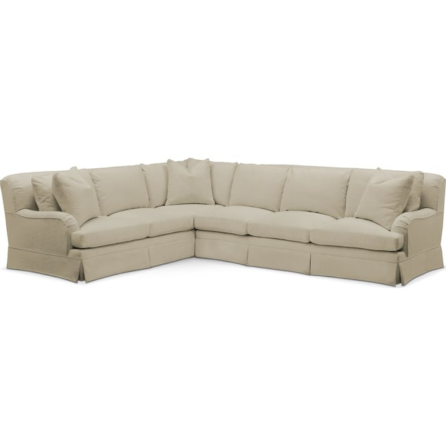 Living Room Furniture - Campbell 2 Pc. Sectional with Right Arm Facing Sofa- Cumulus in Abington TW Barley