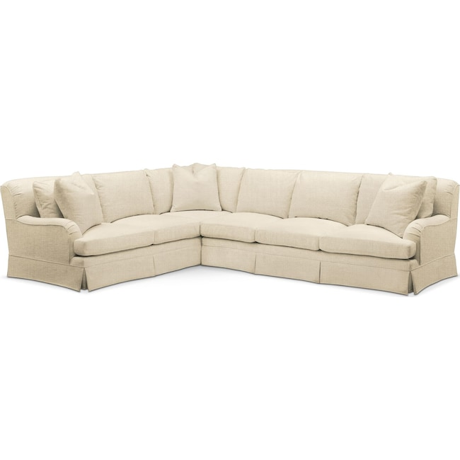 Living Room Furniture - Campbell 2 Pc. Sectional with Right Arm Facing Sofa- Comfort in Anders Cloud