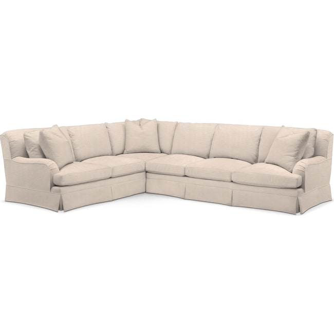 Living Room Furniture - Campbell 2 Pc. Sectional with Right Arm Facing Sofa- Cumulus in Dudley Buff