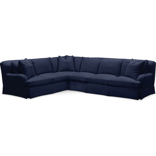 Living Room Furniture - Campbell 2 Pc. Sectional with Right Arm Facing Sofa- Cumulus in Oakley III Ink
