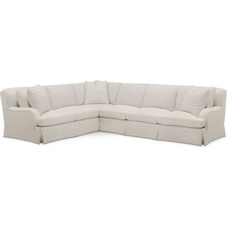 Campbell 2 Pc. Sectional with Right Arm Facing Sofa- Cumulus in Anders Ivory