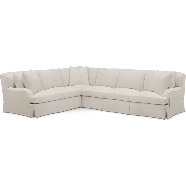 Living Room Furniture - Campbell 2 Pc. Sectional with Right Arm Facing Sofa- Cumulus in Anders Ivory