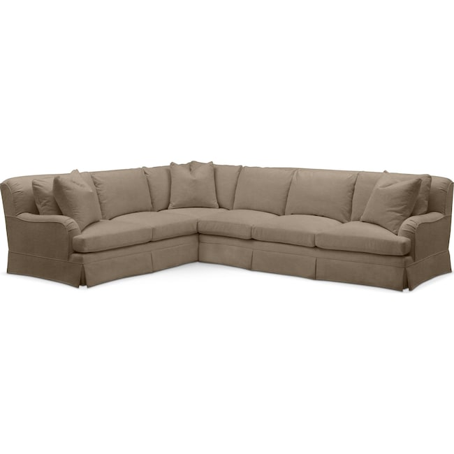 Living Room Furniture - Campbell 2-Piece Sectional with Right-Facing Sofa - Comfort in Statley L Mondo