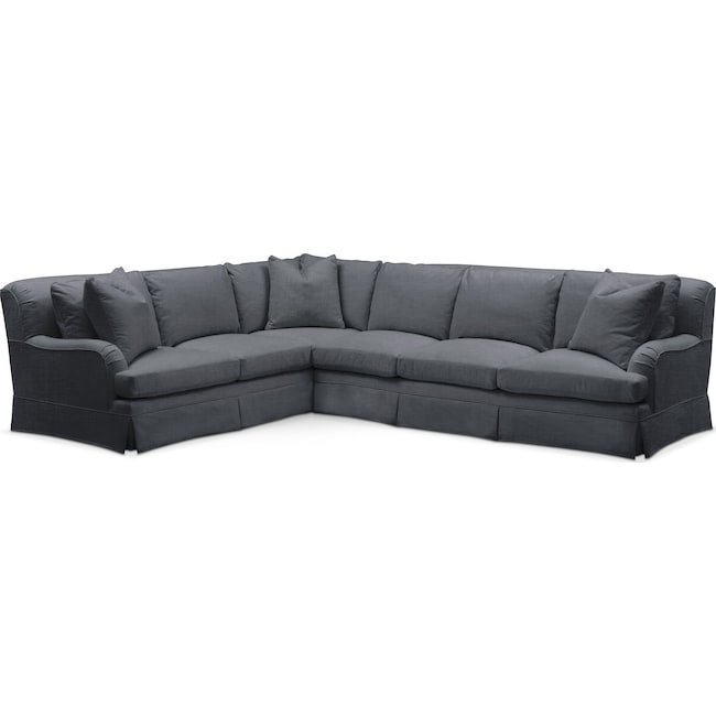 Living Room Furniture - Campbell 2-Piece Sectional with Right-Facing Sofa - Comfort in Milford II Charcoal