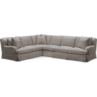 Campbell Cumulus 2-Piece Large Sectional with Right-Facing Sofa - Victory Smoke