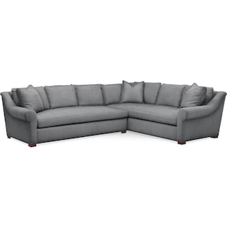 Asher 2 Pc. Sectional with Left Arm Facing Sofa- Cumulus in Depalma Charcoal