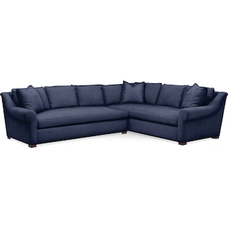 Asher 2 Pc. Sectional with Left Arm Facing Sofa- Cumulus in Oakley III Ink