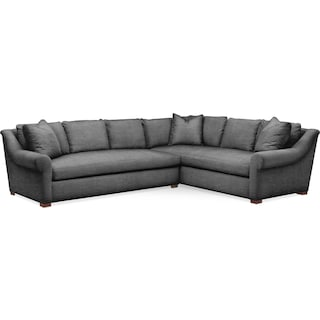 Asher 2 Pc. Sectional with Left Arm Facing Sofa- Cumulus in Curious Charcoal