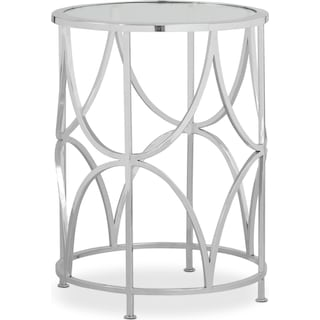 Midas End Table - Nickel