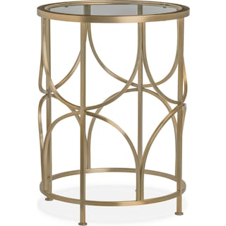 Midas End Table - Gold