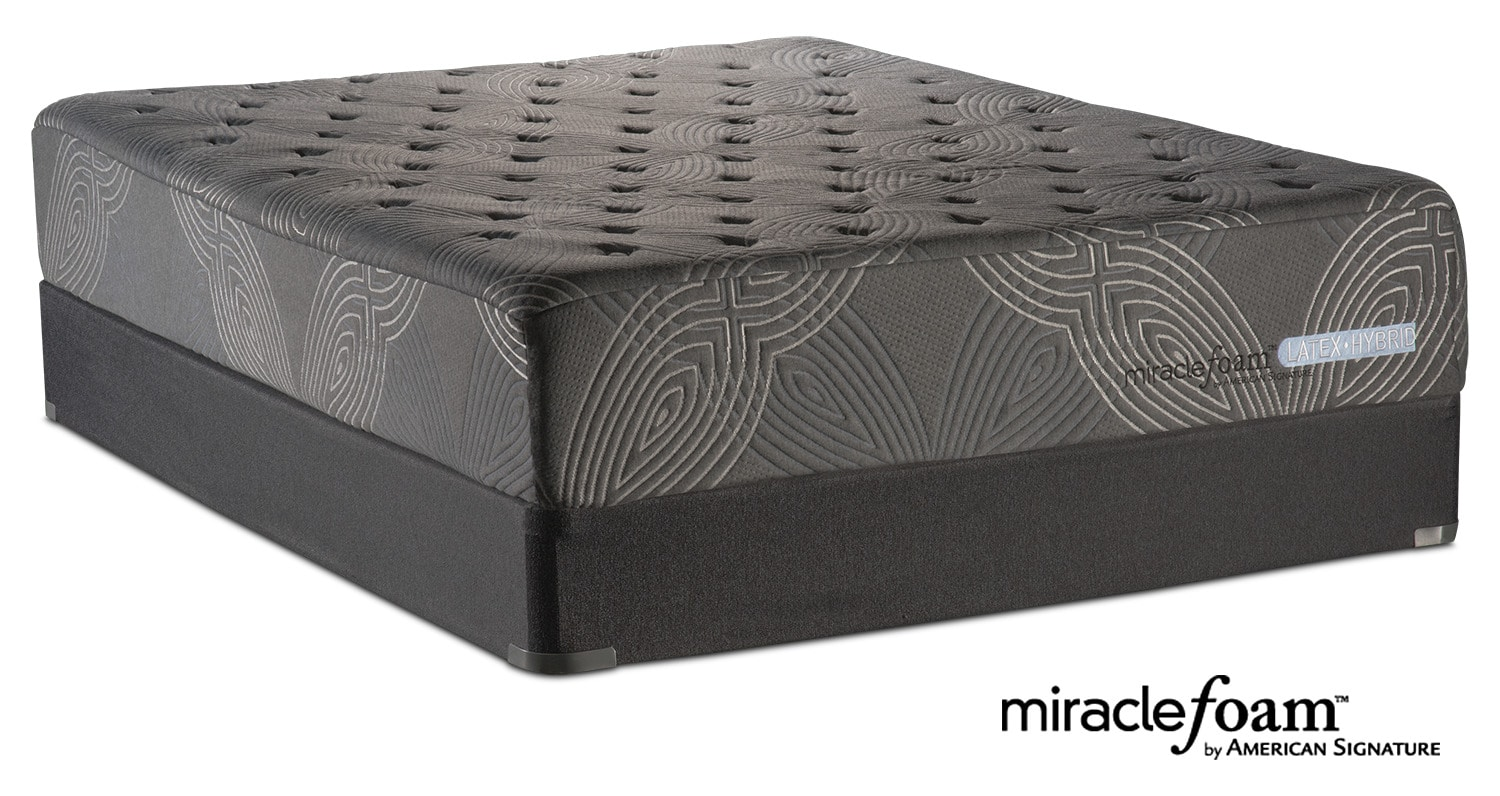 bliss luxury firm queen mattress and foundation set american signature furniture. Black Bedroom Furniture Sets. Home Design Ideas
