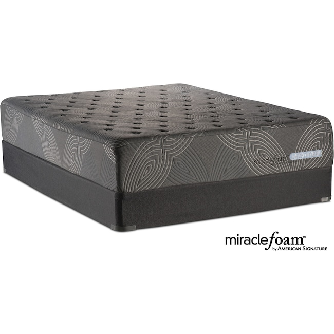 Bliss Luxury Firm Queen Mattress And Foundation Set American Signature Furniture