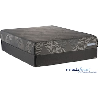 Serenity Cushion Firm Queen Mattress and Foundation Set