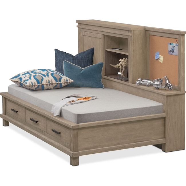 Tribeca Youth Twin Lounge Bed With Storage