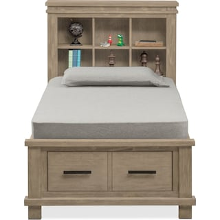 Tribeca Youth Twin Bookcase Storage Bed
