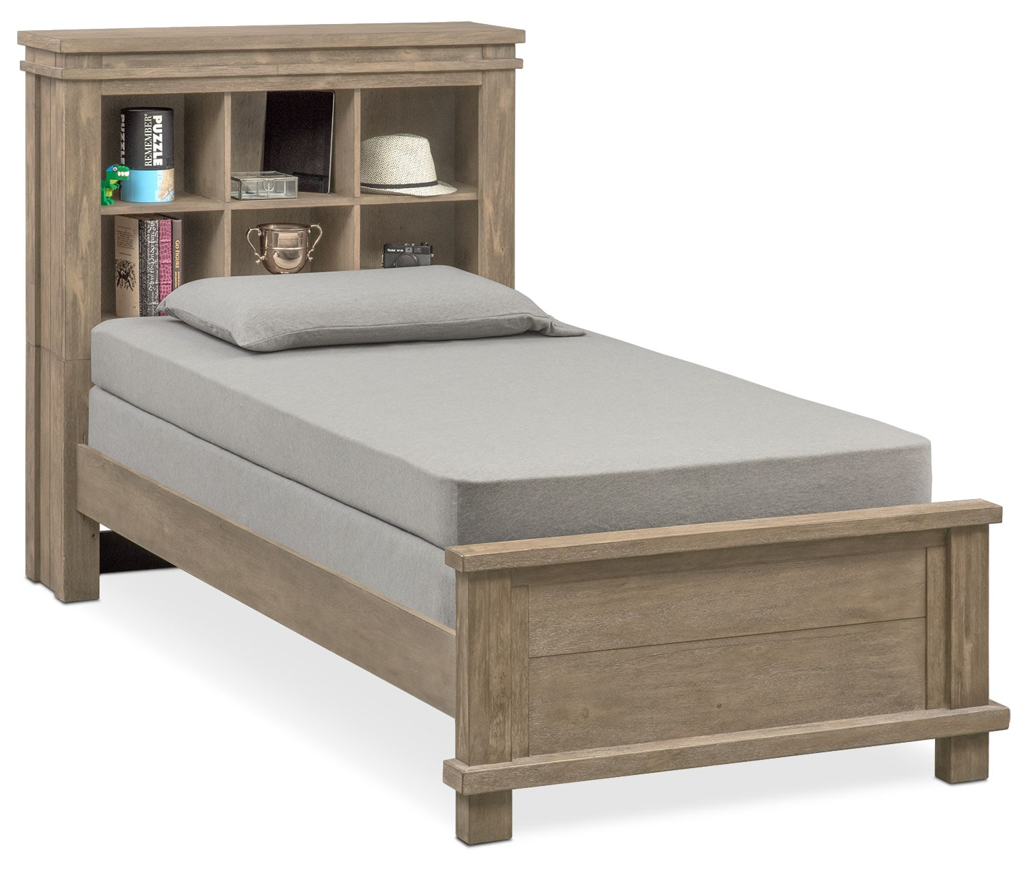 Tribeca Youth Twin Bookcase Bed - Gray
