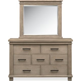 Tribeca Youth Dresser and Mirror - Gray