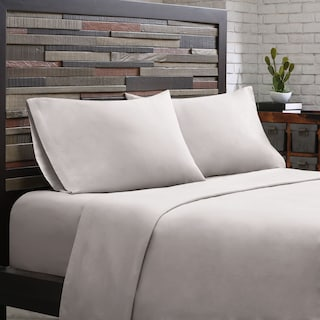 King 300 Thread Count Cotton Sheet Set - Gray