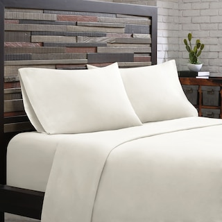 King 300 Thread Count Cotton Sheet Set - White