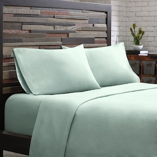 King 300 Thread Count Cotton Sheet Set - Aqua