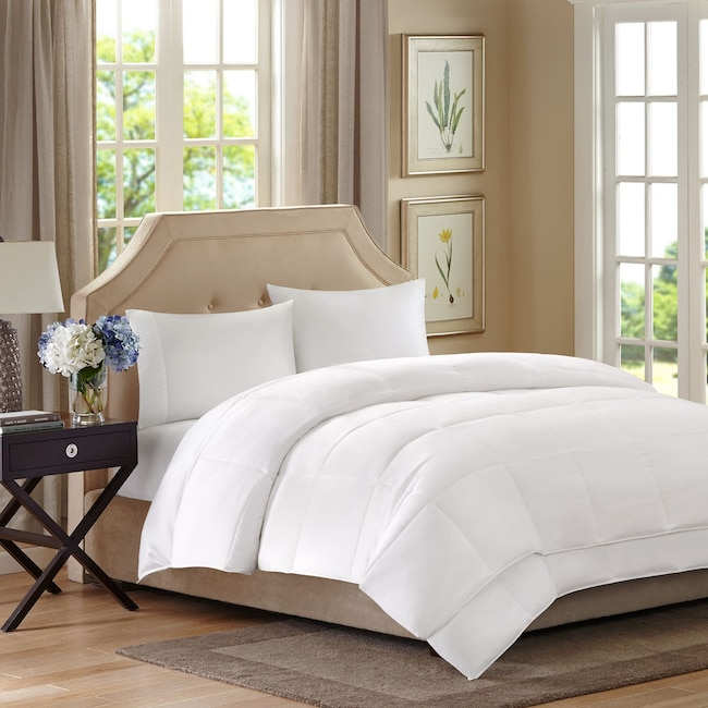 Accent and Occasional Furniture - Queen Down Alternative Comforter - White