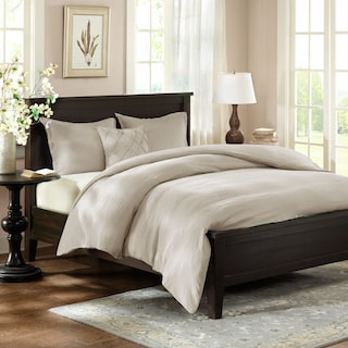 Harbor Queen Linen Duvet Cover and Sham Set - Beige