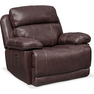 Monte Carlo Dual-Power Recliner - Chocolate