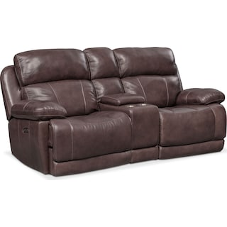 Monte Carlo Dual Power Reclining Loveseat - Chocolate