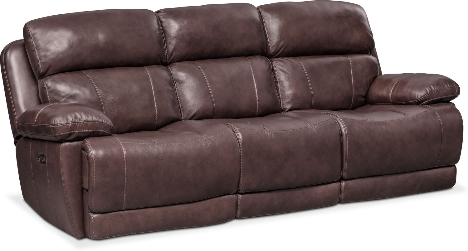 Charmant Living Room Furniture   Monte Carlo Dual Power Reclining Sofa   Chocolate