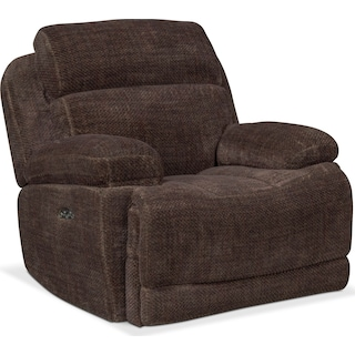 Monte Carlo Dual Power Recliner - Brown