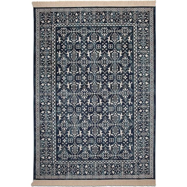 Rugs - Sonoma 5' x 8' Area Rug - Traditional Navy