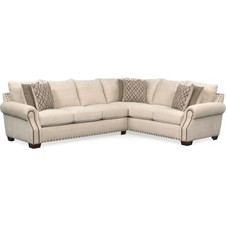 Bolton 2-Piece Sectional with Left-Facing Sofa - Beige