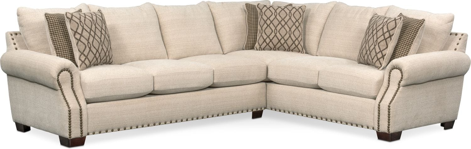 bolton 2piece sectional with leftfacing sofa beige