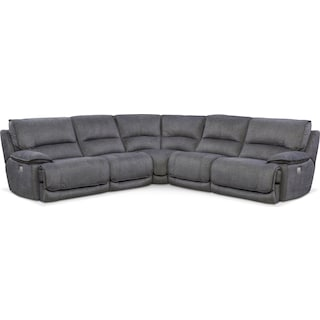 Mario 5-Piece Power Reclining Sectional with 3 Reclining Seats