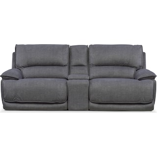 Mario 3-Piece Dual-Power Reclining Sofa with Console