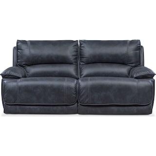 Mario Dual Power Reclining Sofa - Navy