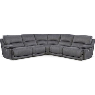Mario 5-Piece Dual-Power Reclining Sectional with 2 Reclining Seats