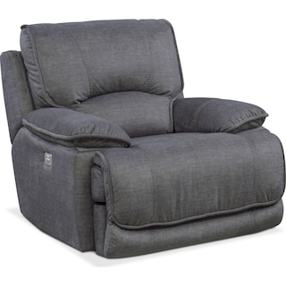 Mario Power Recliner - Charcoal