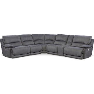 Mario 6-Piece Power Reclining Sectional with 2 Reclining Seats