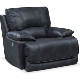 Mario Power Recliner - Navy