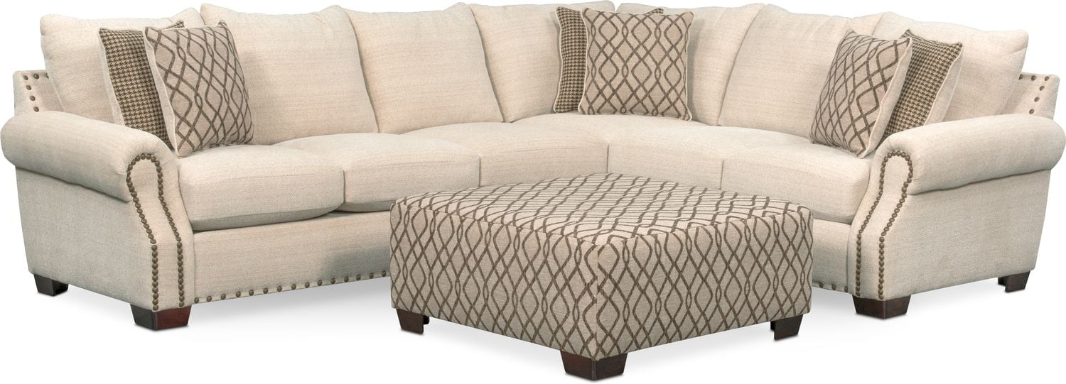 Bolton 2 Piece Sectional With Left Facing Sofa Beige
