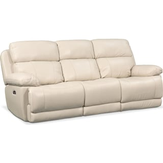 Monte Carlo Dual Power Reclining Sofa - Cream