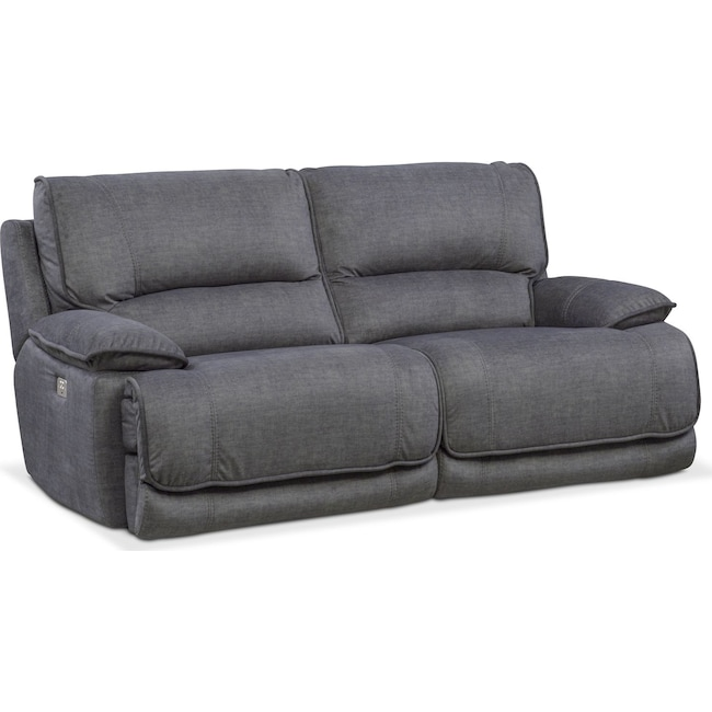 Living Room Furniture - Mario 2-Piece Dual-Power Reclining Sofa