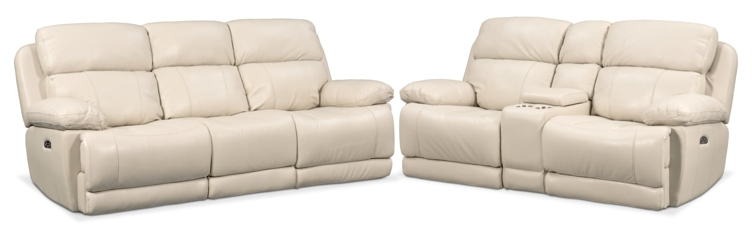 Living Room Furniture - Monte Carlo Dual Power Reclining Sofa and Reclining Loveseat Set