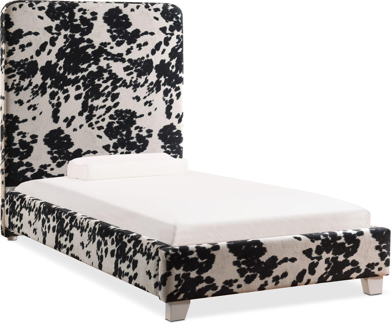 jungle full upholstered bed black