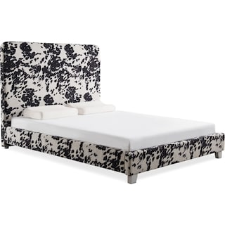Jungle Queen Upholstered Bed - Black