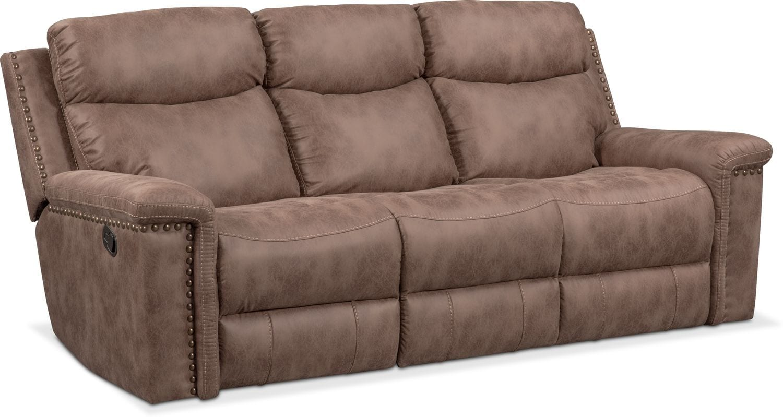 Montana Dual Manual Reclining Sofa And Reclining Loveseat