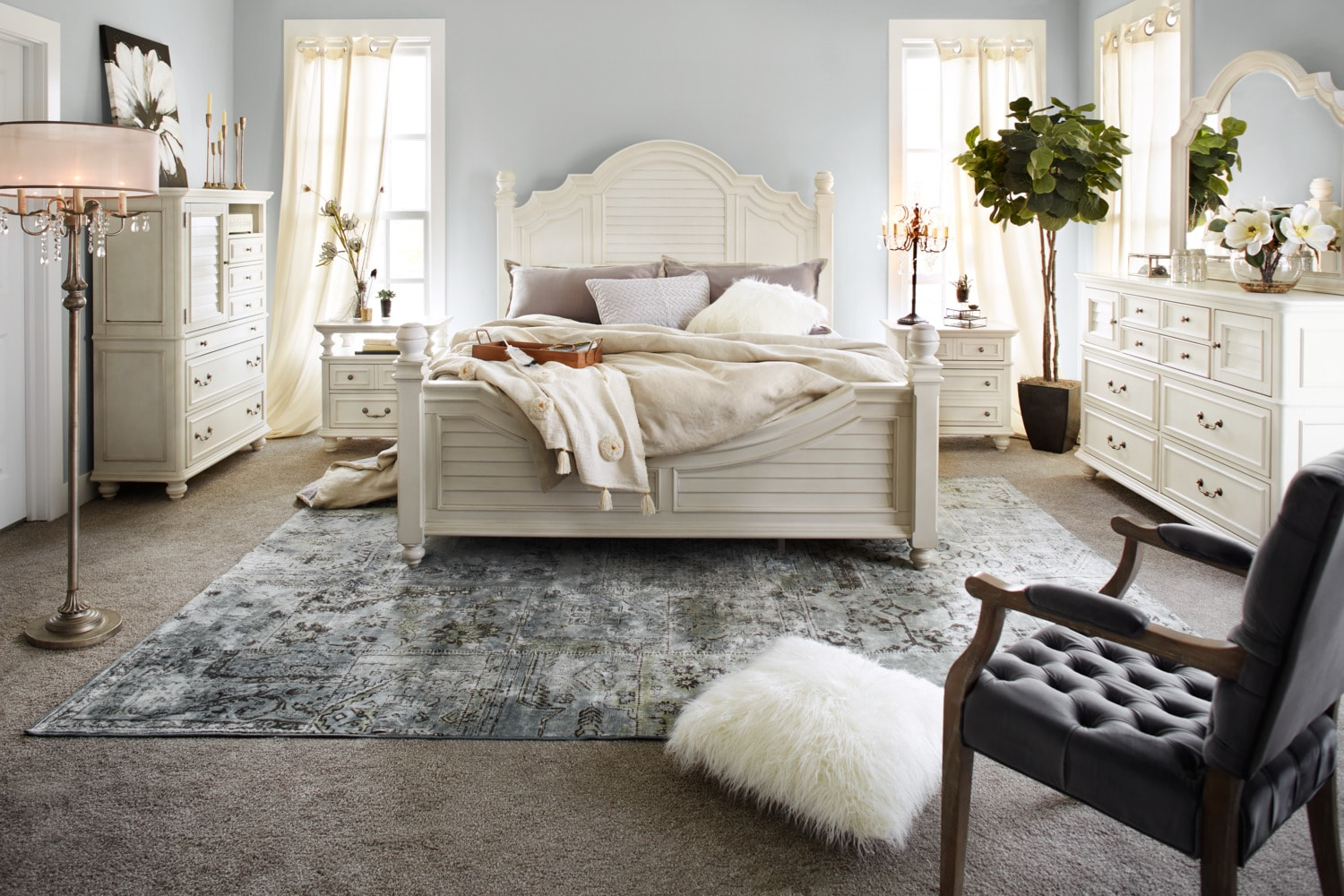 The Charleston Poster Bedroom Collection | American Signature Furniture