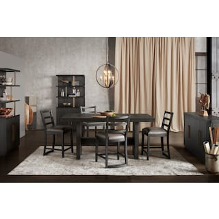 The Malibu Rectangular Counter-Height Dining Collection - Umber